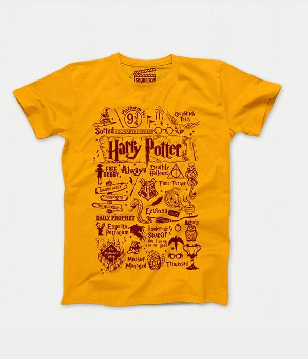 تیشرت زرد هری پاتر tvh