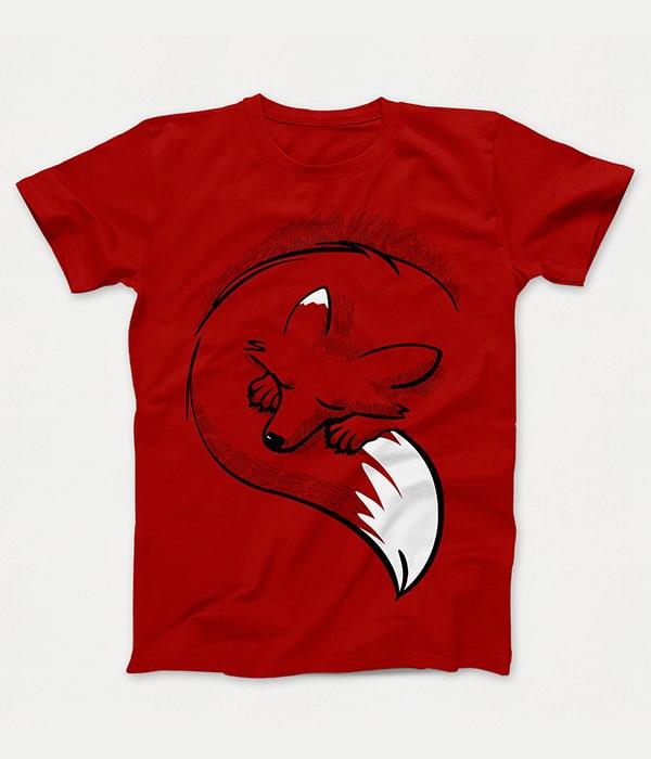 تیشرت قرمز روباه